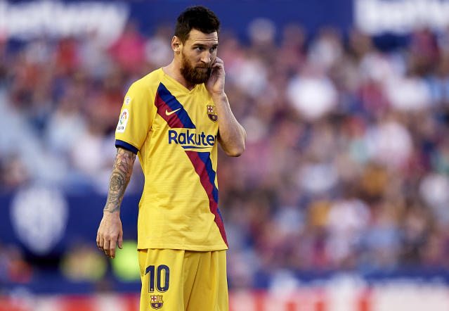 Lionel Messi and Barcelona are currently joined at the top of the La Liga table by ... Real Sociedad? (Getty)
