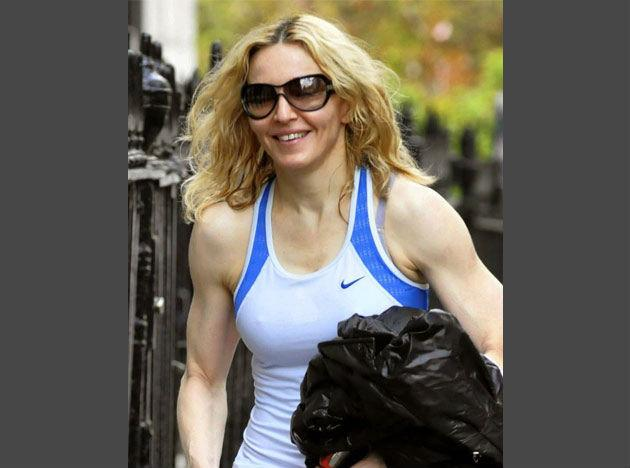 <b>Madonna </b>She is the oldest celeb on this list and maybe the fittest of them all. Madonna beats her age with a focused fitness regime that includes Ashtanga yoga, cycling, pilates and horseback riding. She does not work out once but three times a day.