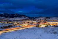 """<p>This charming town is full of shopping and good eating, and is nestled close to ski lodges and only 90 minutes from <a href=""""https://www.redbookmag.com/life/g28247953/national-parks-best-photos/"""" rel=""""nofollow noopener"""" target=""""_blank"""" data-ylk=""""slk:Yellowstone National Park"""" class=""""link rapid-noclick-resp"""">Yellowstone National Park</a>, so you can go snowboarding, ride a horse and visit Old Faithful all in one trip. </p>"""