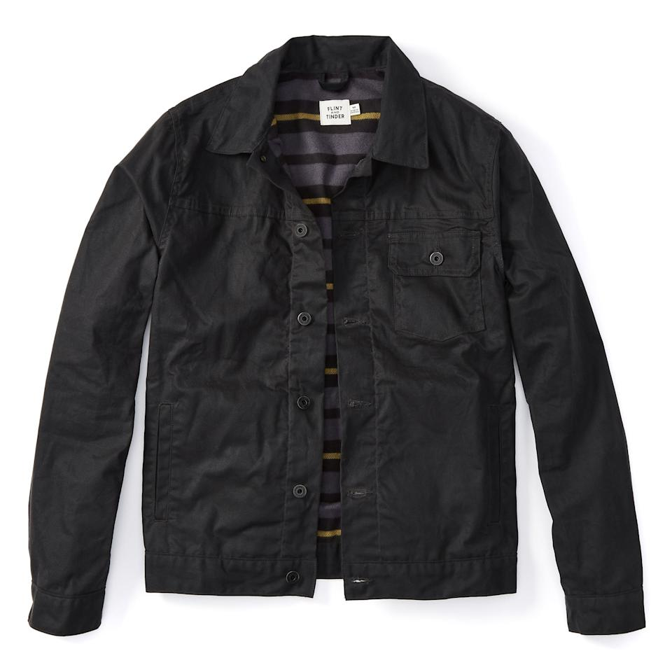 """<p><strong>Flint and Tinder</strong></p><p>huckberry.com</p><p><strong>$240.00</strong></p><p><a href=""""https://go.redirectingat.com?id=74968X1596630&url=https%3A%2F%2Fhuckberry.com%2Fstore%2Fflint-and-tinder%2Fcategory%2Fp%2F59676-flannel-lined-waxed-trucker-jacket&sref=https%3A%2F%2Fwww.menshealth.com%2Ftechnology-gear%2Fg34497236%2Fbest-gifts-for-brother%2F"""" rel=""""nofollow noopener"""" target=""""_blank"""" data-ylk=""""slk:Shop Now"""" class=""""link rapid-noclick-resp"""">Shop Now</a></p>"""