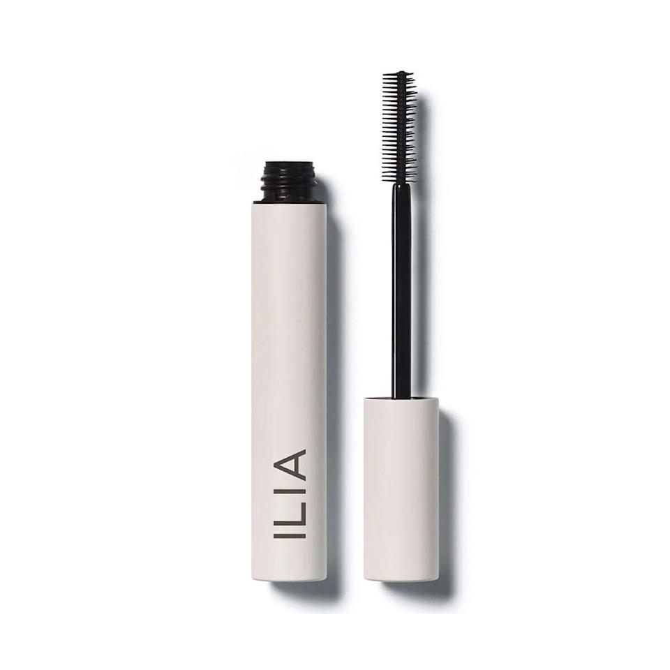 """The Readers' Choice Award-winning <a href=""""https://www.allure.com/review/ilia-limitless-lash-mascara?mbid=synd_yahoo_rss"""" rel=""""nofollow noopener"""" target=""""_blank"""" data-ylk=""""slk:Limitless Lash Mascara"""" class=""""link rapid-noclick-resp"""">Limitless Lash Mascara</a> is pretty amazing. Let's start with the wand: It's two-sided with one brush that has shorter, more dense bristles to add volume and another that looks like a straight comb to lengthen and separate hairs. The formula is an intense black that defines lashes and is laced with nourishing shea butter and strengthening keratin to condition the hairs as it tints. """"The opaque, black formula holds a curl through a full day's wear and layers beautifully so you can create either soft definition or full-on, in-your-face lashes,"""" says <em>Allure</em> contributor Kat Suico."""
