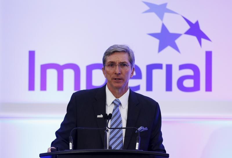 President and CEO Kruger of Imperial Oil addresses shareholders during the company's annual general meeting in Calgary.