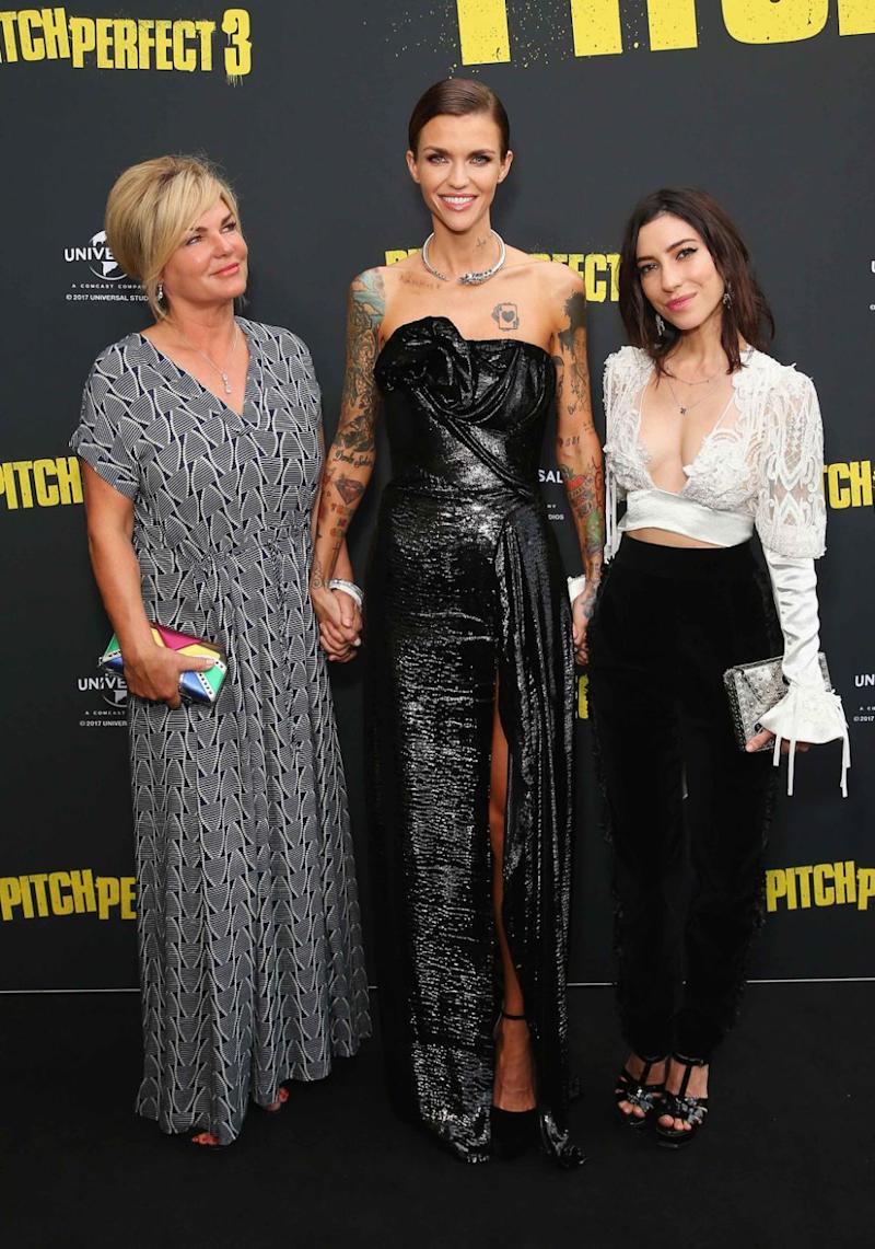 The actress was also joined by her mother. Source: Getty