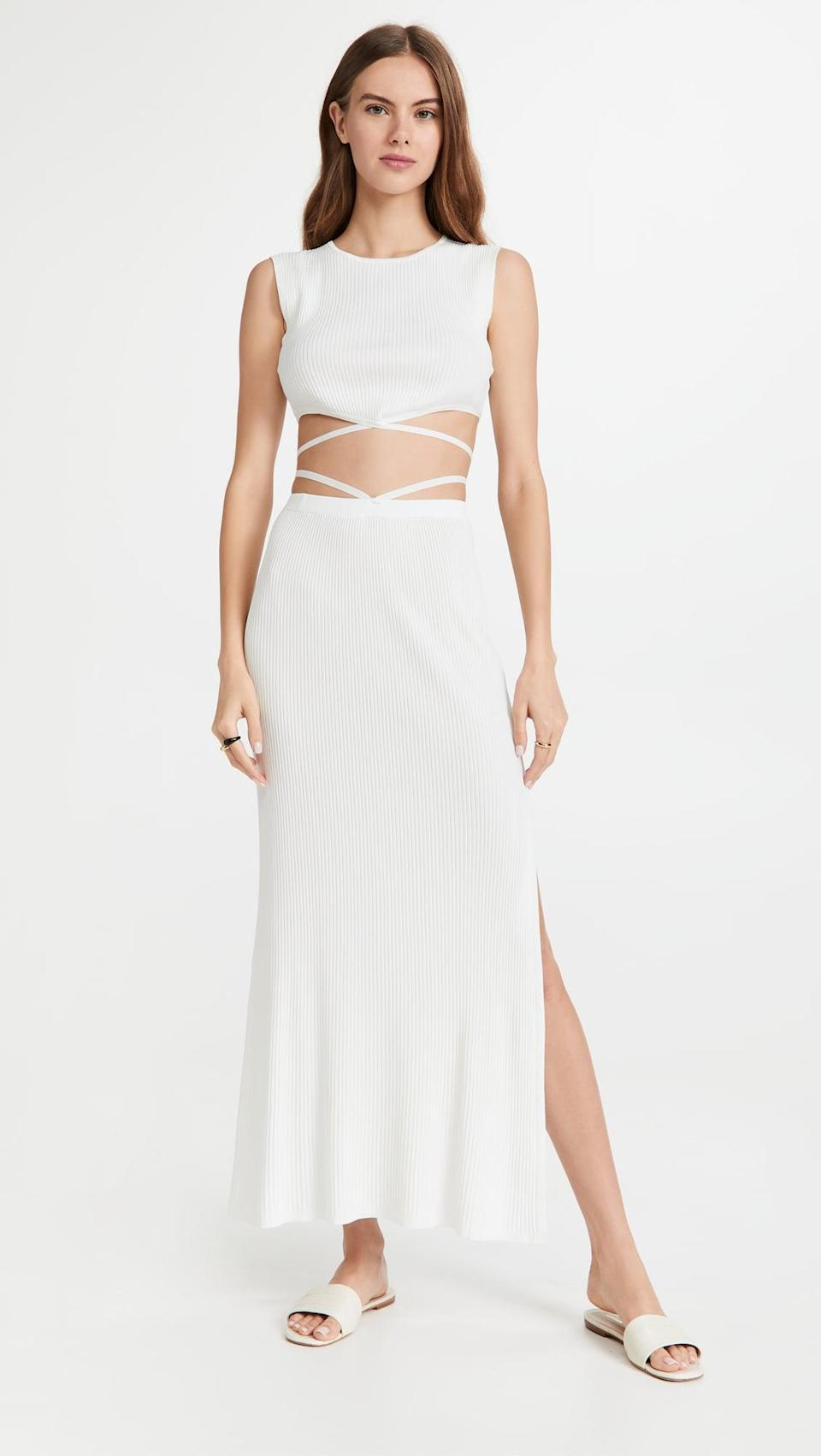 <p>This <span>Devon Windsor Seraphina Top</span> ($160) and <span>Sage Skirt</span> ($198) is so sexy and fun. Wear this to the beach, to lunch, or anywhere you want to go.</p>