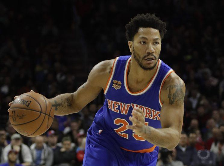 Derrick Rose played 64 games with the Knicks last season. (AP)