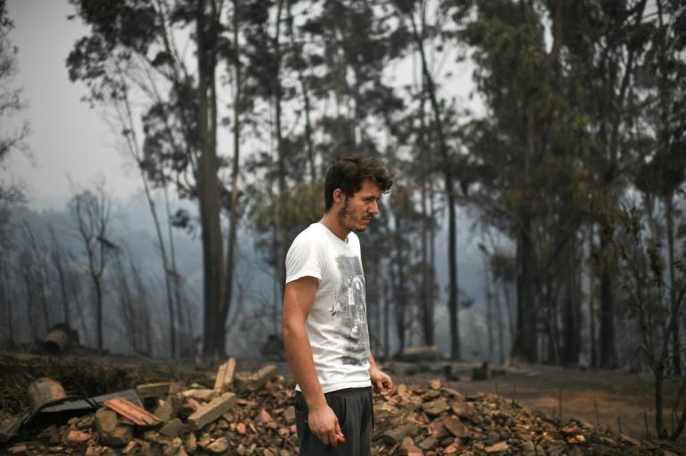 Miguel Manuel, 23 years old, lost his mother during a wildfire at Pobrais in Portugal