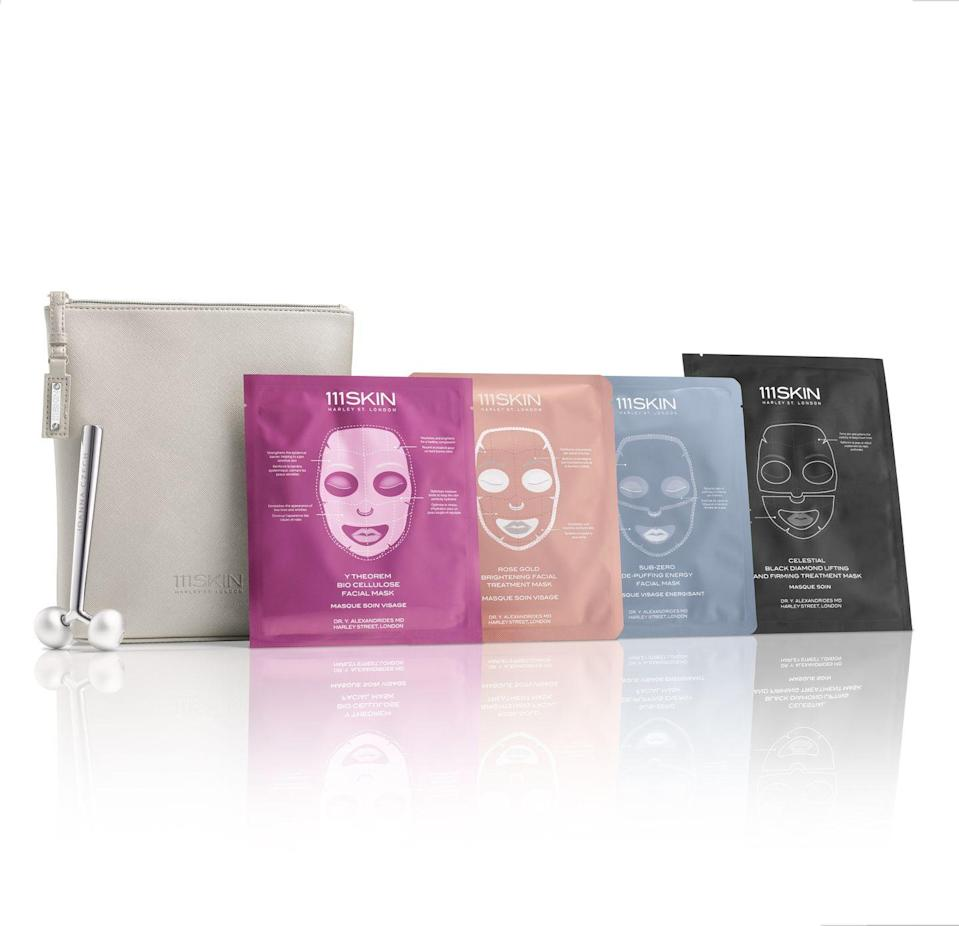 """<p>The Facial Edit</p><p>£215</p><p>Revolve.com</p><p><a class=""""link rapid-noclick-resp"""" href=""""https://go.redirectingat.com?id=127X1599956&url=https%3A%2F%2Fwww.revolve.com%2F111skin-x-joanna-czech-the-facial-edit%2Fdp%2F111R-WU65%2F&sref=https%3A%2F%2Fwww.harpersbazaar.com%2Fuk%2Fbeauty%2Fskincare%2Fg29697419%2Fbest-face-massager%2F"""" rel=""""nofollow noopener"""" target=""""_blank"""" data-ylk=""""slk:SHOP NOW"""">SHOP NOW</a></p><p>Aesthetician Joanna Czech's weightier-than-most face roller is good when used alone: but in combination with one of 111Skin's expert masks, it's remarkable. </p><p>This limited-edition kit contains four of the skincare brand's A-list approved masks alongside Czech's sell-out roller, which is made from aluminium and zinc alloy to ensure cryo-level chill, and features two rolling spheres that work together to grip, lift and tone the skin better than most. </p>"""