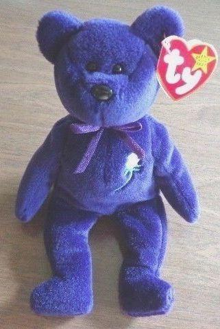 """<p>This bear was touted as being super rare from the very beginning, and honestly prices vary. But some people are out here trying to sell it for <a href=""""https://www.ebay.com/itm/Ty-Princess-Diana-Beanie-Baby-PVC-Rare-Mint-1997-No-Space-Original-With-Tags/254317846111?hash=item3b36865e5f:g:8xQAAOSwTAZdQ417"""" rel=""""nofollow noopener"""" target=""""_blank"""" data-ylk=""""slk:$10k"""" class=""""link rapid-noclick-resp"""">$10k</a>. You could be that person! </p>"""
