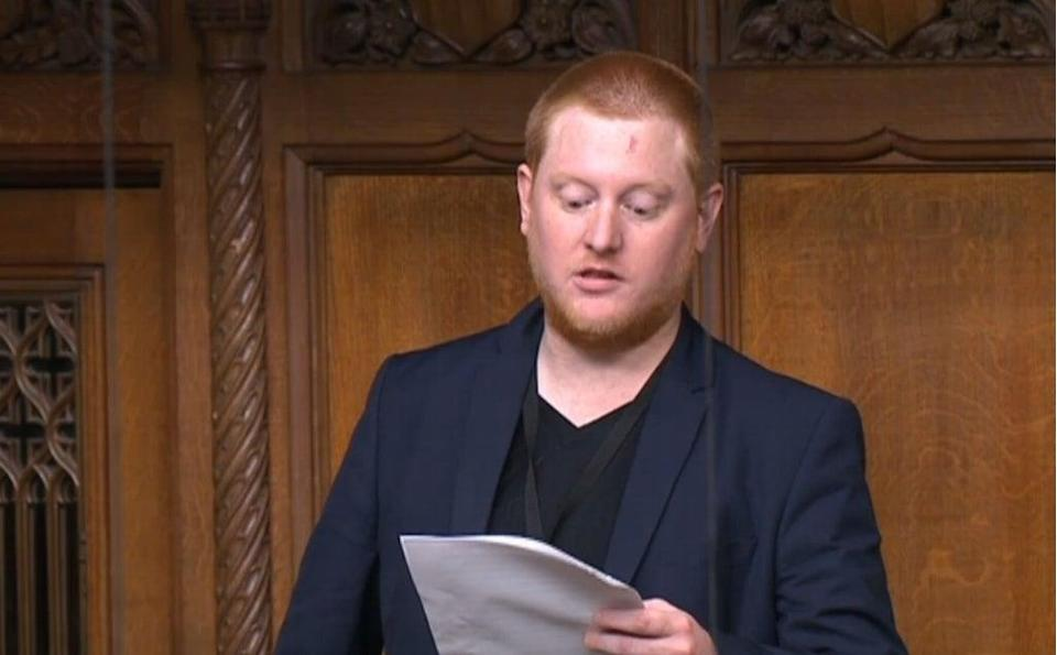 Jared O'Mara speaking in the House of Commons (PA) (PA Archive)