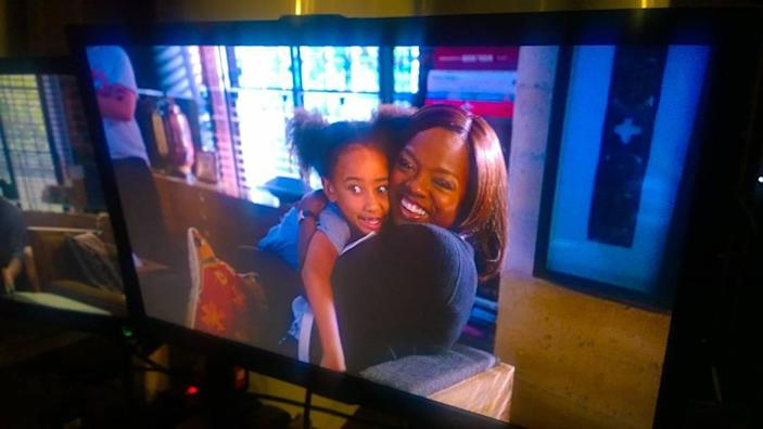 <p>Genesis got to see her mom in action when she visited her on the set of <em>How to Get Away with Murder</em> in August 2017. </p>