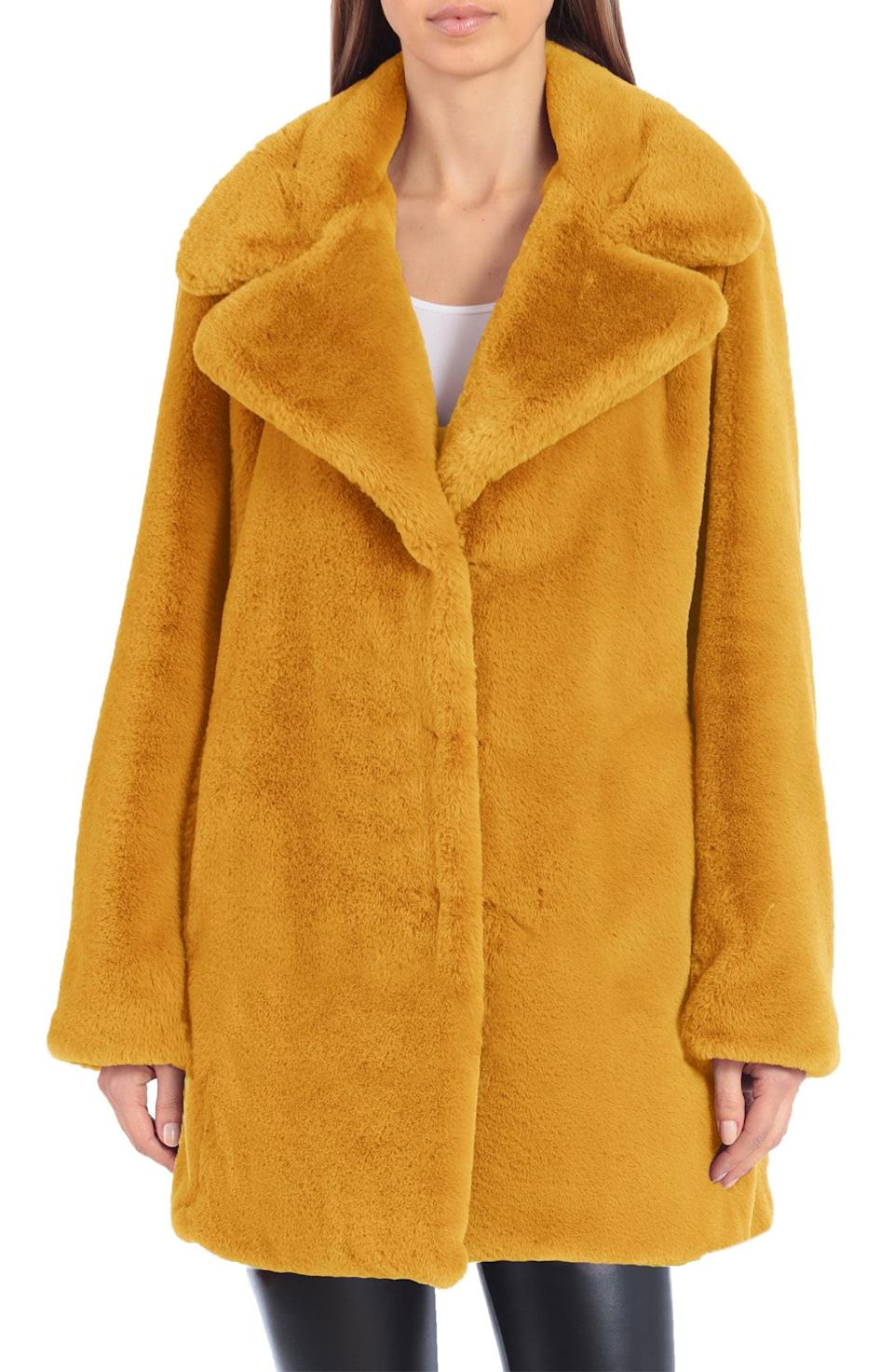 <p>This <span>Avec Les Filles Faux Fur Notched Collar Coat</span> ($96, originally $129) shows that you can still be stylish in the winter.</p>