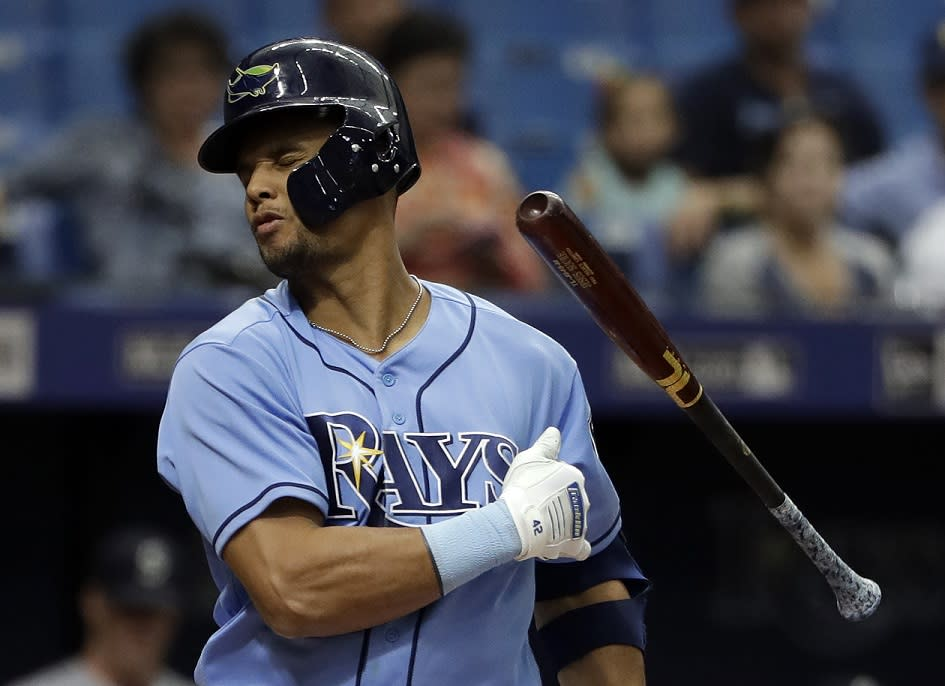 Tampa Bay Rays' outfielder Carlos Gomez let his frustration get the best of him on Wednesday. (AP)