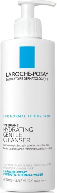 <p>The <span>La Roche-Posay Toleriane Hydrating Gentle Face Cleanser</span> ($15) will leave your skin cleansed without irritation or stripping the skin. </p>