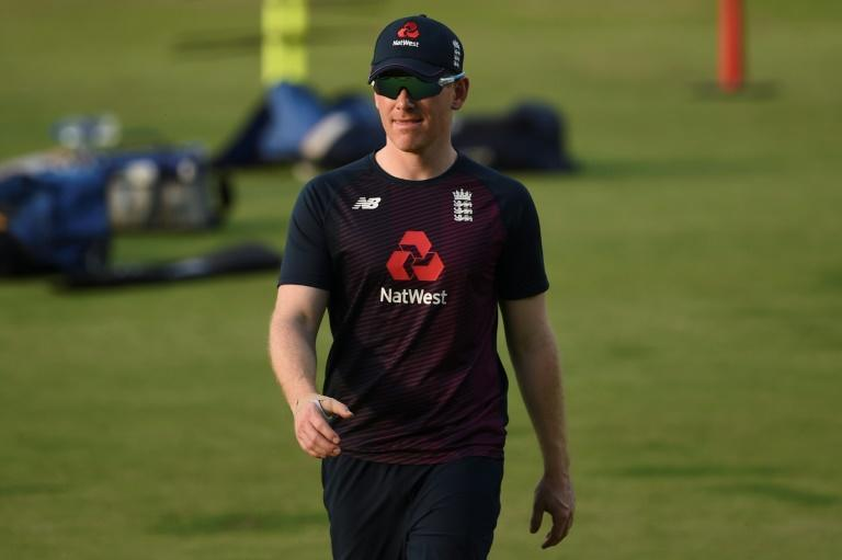 Morgan attends a practice session in Pune on Thursday before he was ruled out of the final two ODIs against India