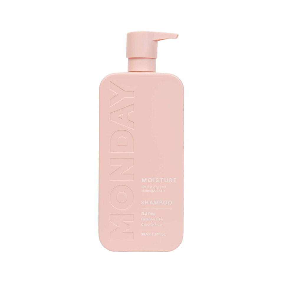 """There's no doubt that Amazon is the go-to for everyday essentials like <a href=""""https://www.allure.com/gallery/best-of-beauty-hair-product-winners?mbid=synd_yahoo_rss"""" rel=""""nofollow noopener"""" target=""""_blank"""" data-ylk=""""slk:shampoo and conditioner"""" class=""""link rapid-noclick-resp"""">shampoo and conditioner</a>. While this category of hair-care products may not seem as exciting to gift, Monday Haircare changes that notion. Not only is the minimalist packaging a shelfie dream, what's inside is even better. The <a href=""""https://www.allure.com/story/best-sulfate-free-shampoos?mbid=synd_yahoo_rss"""" rel=""""nofollow noopener"""" target=""""_blank"""" data-ylk=""""slk:sulfate-free"""" class=""""link rapid-noclick-resp"""">sulfate-free</a> Moisture Shampoo formula won't strip hair of nutrients, and coconut oil, shea butter, and vitamin E ensure that hair stays moisturized. Plus, this jumbo bottle should carry its recipient all the way through winter washdays. Add the <a href=""""https://www.amazon.com/dp/B08M5N5NRT/ref=syn_sd_onsite_desktop_29?"""" rel=""""nofollow noopener"""" target=""""_blank"""" data-ylk=""""slk:conditioner"""" class=""""link rapid-noclick-resp"""">conditioner</a> to make it a complete gift bundle."""