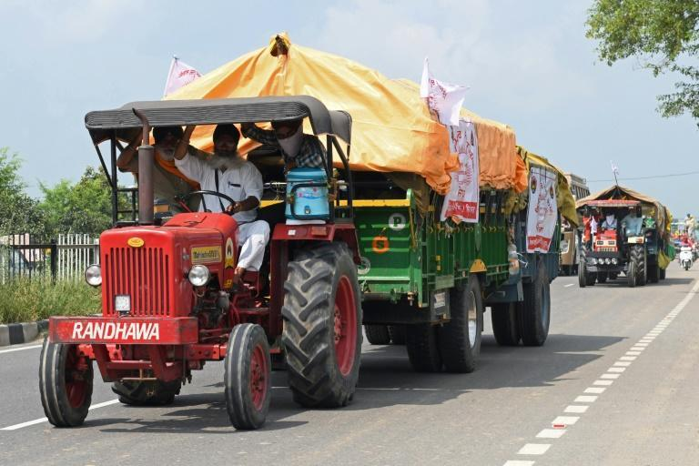 The farmers have been camped out on the borders of Delhi since late November (AFP/Narinder NANU)