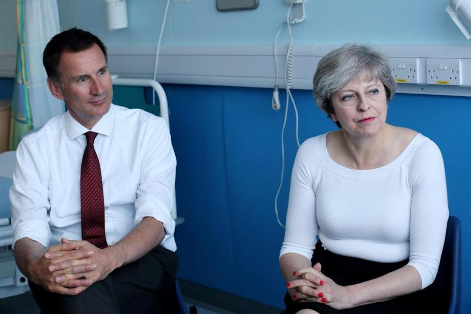 Jeremy Hunt and Theresa May claimed the NHS was not in a state of crisis. (Getty)