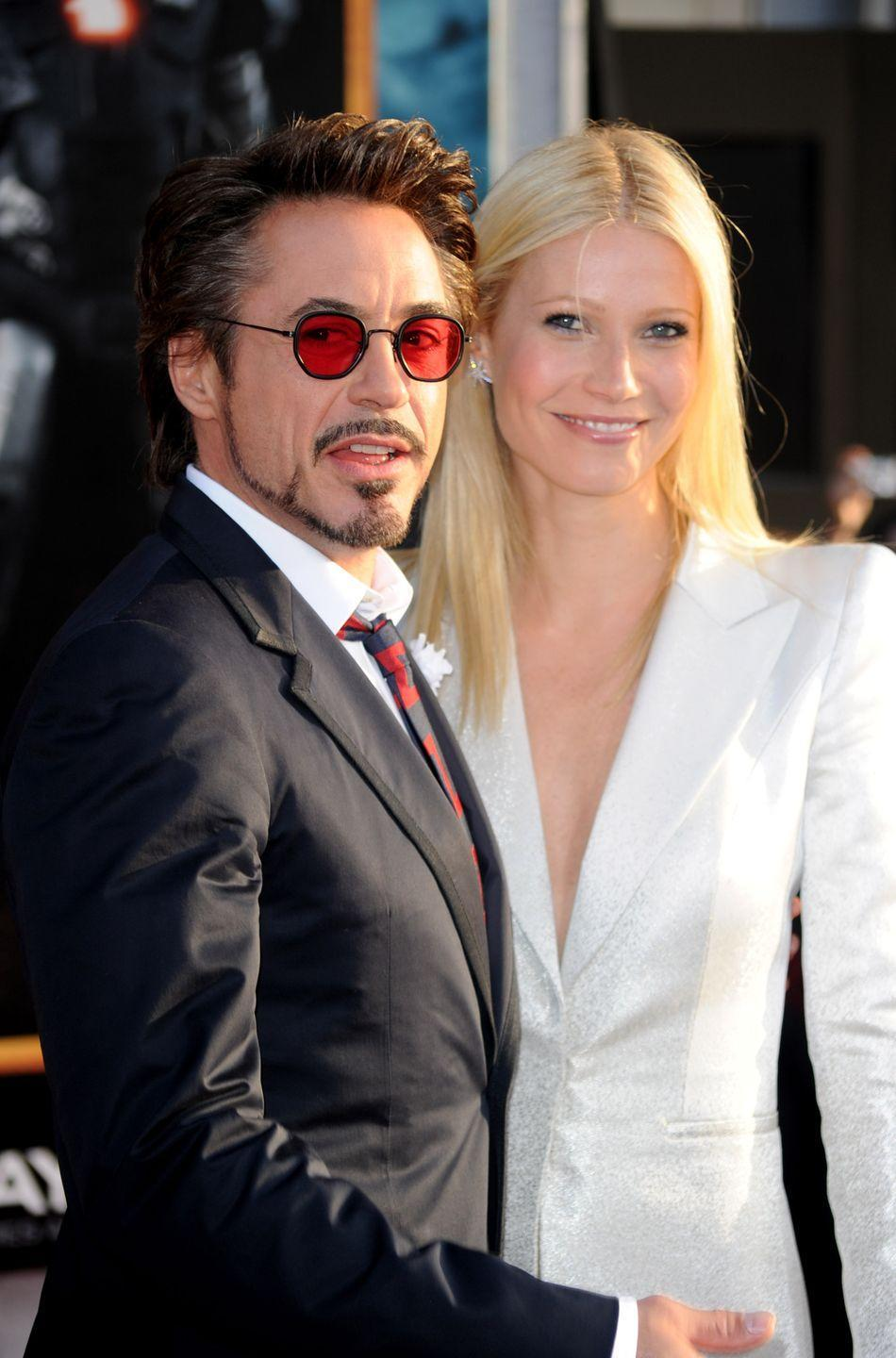 "<p>In the same <a href=""https://www.marieclaire.com/celebrity/a34380451/kate-hudson-gwyneth-paltrow-worst-on-screen-kisses/"" rel=""nofollow noopener"" target=""_blank"" data-ylk=""slk:podcast episode"" class=""link rapid-noclick-resp"">podcast episode</a>, Gwyneth Paltrow revealed kissing Robert Downey Jr. in the <em>Iron Man</em> and <em>Avengers</em> movies felt like kissing a brother. ""Like with Robert, like when I kissed him and I was like, 'You've got to be kidding me,'"" said Paltrow. ""This is literally like kissing my brother.""</p>"