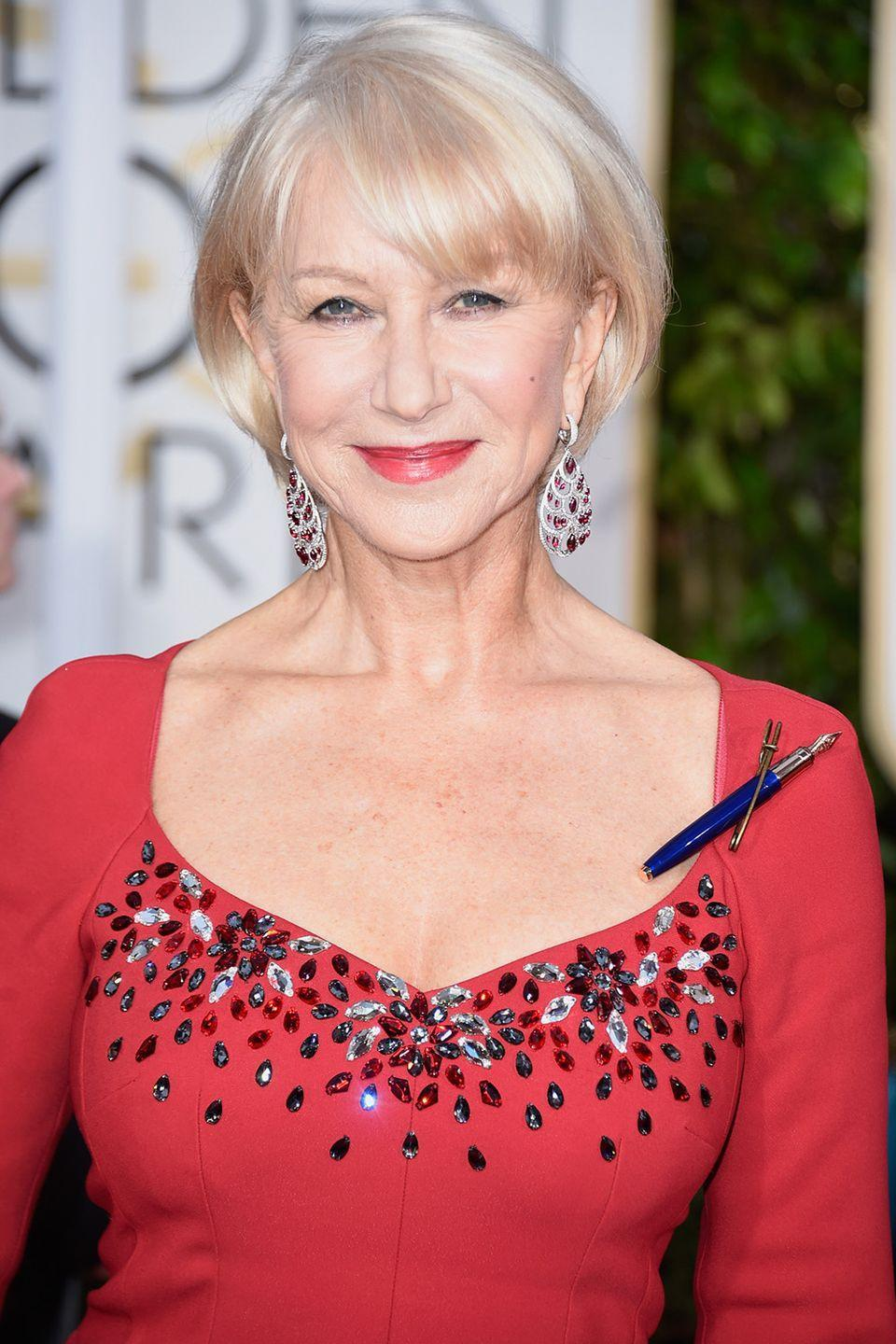 """<p><strong>Born</strong>: Ilyena Lydia Mironoff</p><p>The British actress was actually born Ilyena Lydia Mironoff, but her father <a href=""""https://us.hellomagazine.com/profiles/helen-mirren/"""" rel=""""nofollow noopener"""" target=""""_blank"""" data-ylk=""""slk:changed"""" class=""""link rapid-noclick-resp"""">changed</a> the family's last name from Mironoff to Mirren in the fifties. Ilynea then simplified her first name to Helen when she embarked on her acting career.</p>"""