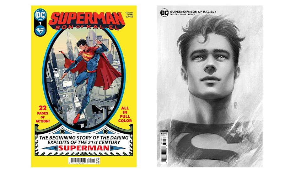 The principal covers for the first issue of Superman: Son of Kal-El