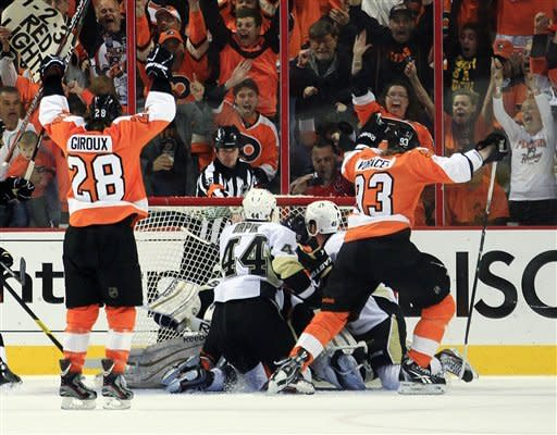 Flyers beat Penguins 5-1 to win series in 6 games