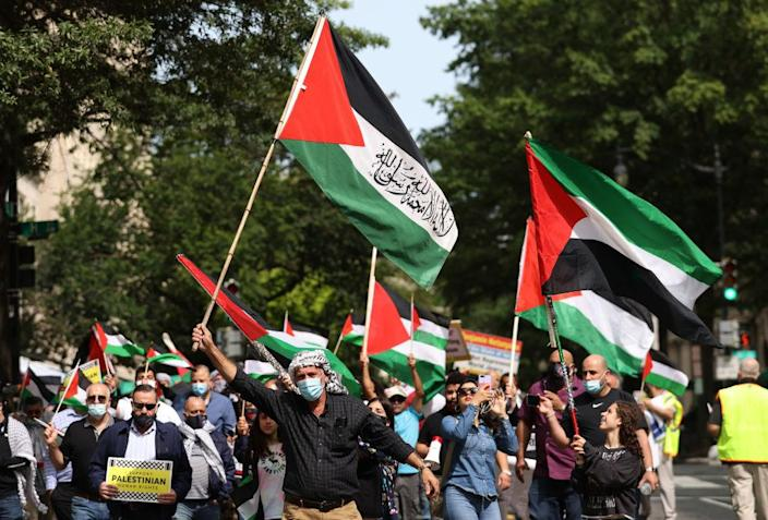 Protest Held Outside White House Against Israel