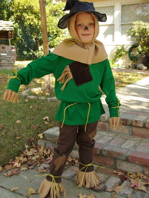 """<p>This awesome costume is so easy because it starts with a green long-sleeved tee! Fleece fabric stands in for itchy straw. Add some patches and an inexpensive hat, and you're all set for the cutest trip to Oz ever. </p><p><strong>Get the tutorial at</strong> <strong><a href=""""http://oleanderandpalm.com/2012/10/halloween-costumes-wizard-of-oz.html"""" rel=""""nofollow noopener"""" target=""""_blank"""" data-ylk=""""slk:Oleander and Palm"""" class=""""link rapid-noclick-resp"""">Oleander and Palm</a>. </strong></p><p><a class=""""link rapid-noclick-resp"""" href=""""https://www.amazon.com/Newcastle-Fabrics-Polar-Fleece-Fabric/dp/B01CUK7J9C/ref=sr_1_2?dchild=1&keywords=tan+fleece&qid=1592596174&sr=8-2&tag=syn-yahoo-20&ascsubtag=%5Bartid%7C10050.g.28190286%5Bsrc%7Cyahoo-us"""" rel=""""nofollow noopener"""" target=""""_blank"""" data-ylk=""""slk:SHOP TAN FLEECE"""">SHOP TAN FLEECE</a></p>"""