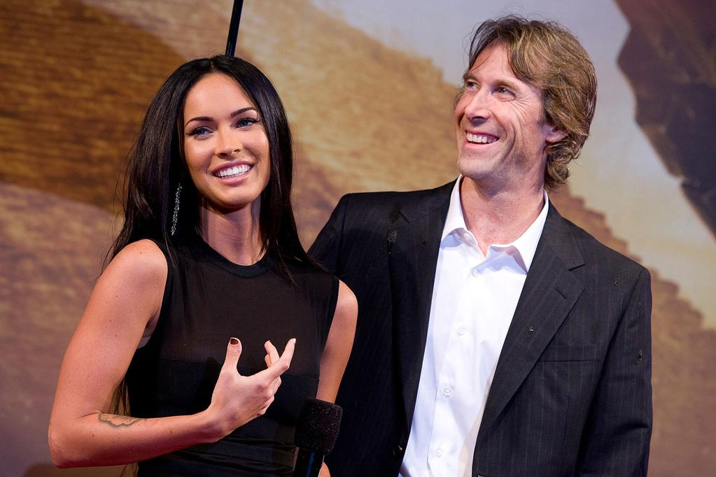 """<a href=""""http://movies.yahoo.com/movie/contributor/1808488000"""">Megan Fox</a> and <a href=""""http://movies.yahoo.com/movie/contributor/1800020334"""">Michael Bay</a> at the Korean premiere of <a href=""""http://movies.yahoo.com/movie/1809943432/info"""">Transformers: Revenge of the Fallen</a> - 06/09/2009"""