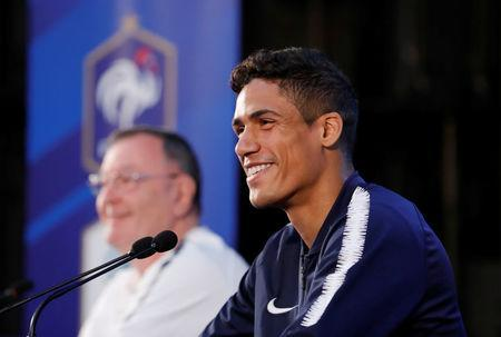 Soccer Football - World Cup - France Press Conference - Istra, Russia - June 19, 2018 France's Raphael Varane during the press conference REUTERS/Tatyana Makeyeva