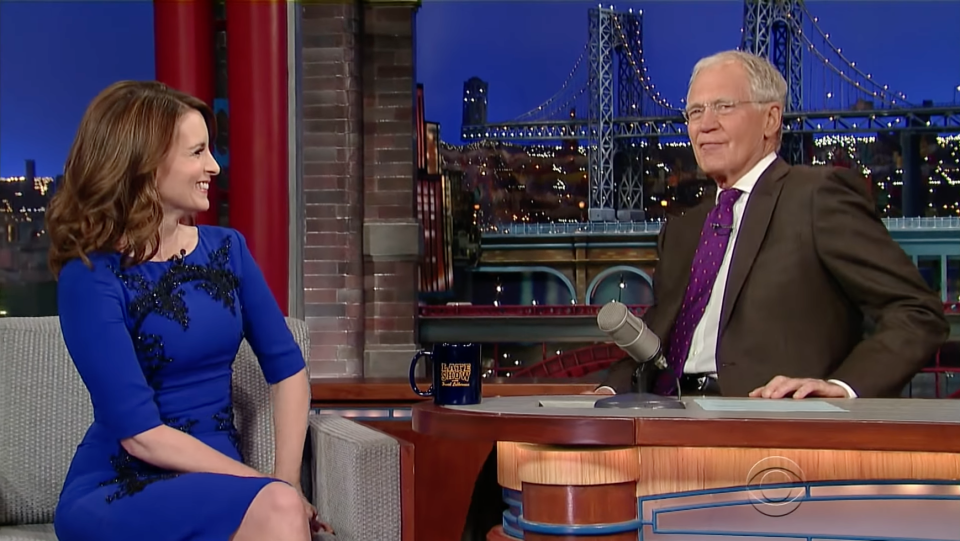 Tina Fey on The Letterman Show