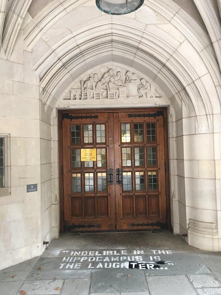 The Sterling Law Building at Yale Law School as seen Monday morning. (Photo: Laurel Raymond)
