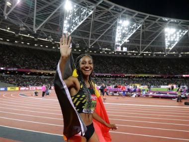 Nafissatou Thiam at the World Athletics Championships in 2017. Reuters