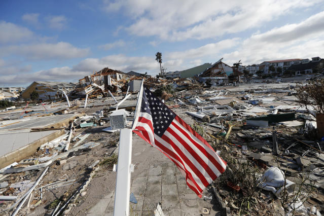 Hurricane Michael leveled Mexico Beach, a town located in the Florida Panhandle. (AP)