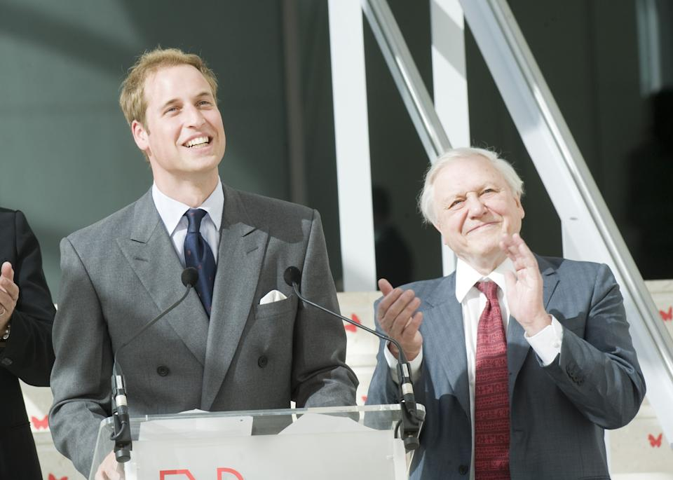 Prince William (left) and Sir David Attenborough, in 2009, at the opening of The Darwin Centre at The Natural History Museum, in London. It was the start of many appearances together. (PA Images)