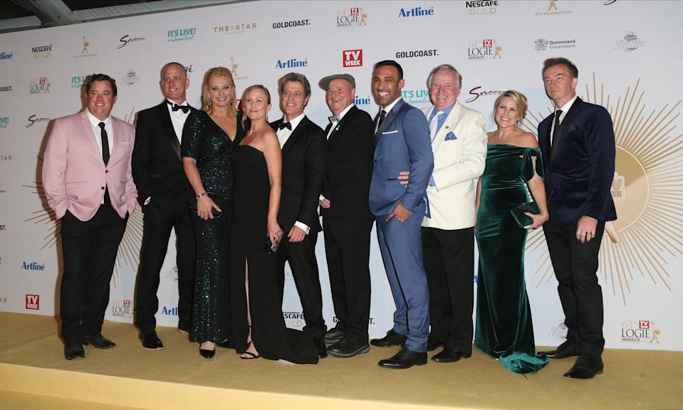 GOLD COAST, AUSTRALIA - JUNE 30: Better Homes and Gardens cast members arrive at the 61st Annual TV WEEK Logie Awards at The Star Gold Coast on June 30, 2019 on the Gold Coast, Australia. (Photo by Faith Moran/Wireimage)