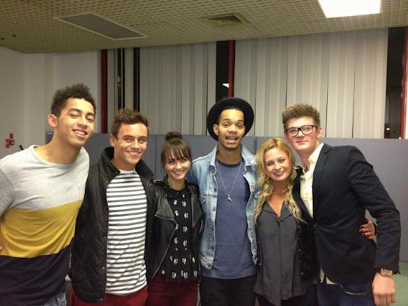 Team GB's Tom Daley Meets Rizzle Kicks On Tour