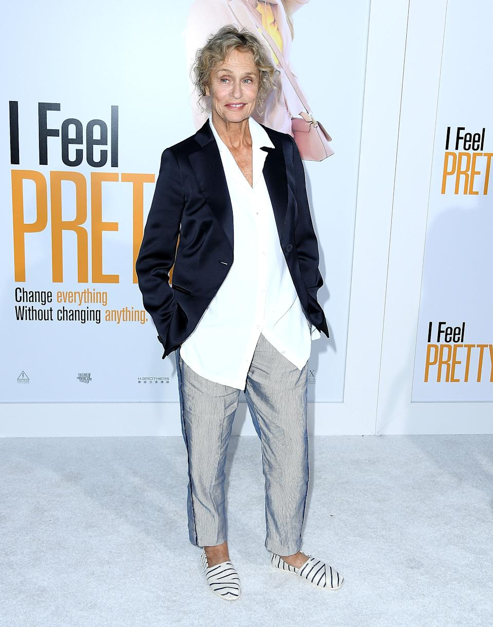 "WESTWOOD, CA - APRIL 17:  Lauren Hutton arrives at the Premiere Of STX Films' ""I Feel Pretty""  at Westwood Village Theatre on April 17, 2018 in Westwood, California.  (Photo by Steve Granitz/WireImage)"