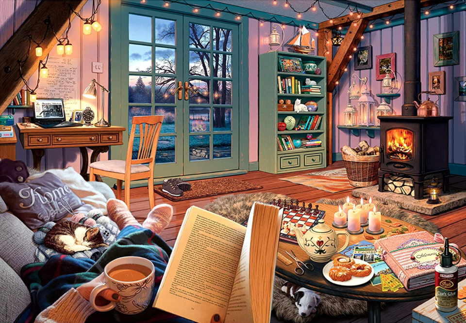 Ravensburger Cozy Retreat 500-Piece Large Format Jigsaw Puzzle