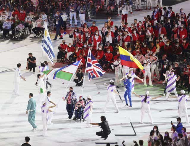 David Smith during the closing ceremony