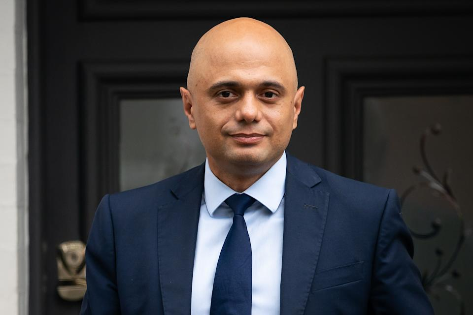 Former chancellor of the exchequer Sajid Javid, outside his home in south west London, after he was appointed as Secretary of State for Health and Social Care, following the resignation of Matt Hancock. Picture date: Sunday June 27, 2021.
