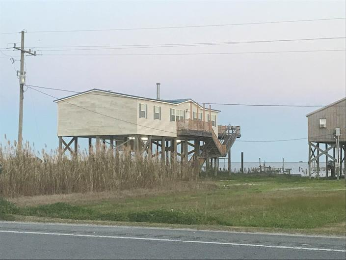 A house put up on stilts in Louisiana to protect against flooding. May 22, 2019.