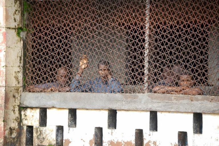 Inmates at Mafanta prison in Magburaka. Over-crowding, poor hygiene and 'jungle-like' violence are chronic problems in Sierra Leone's prison system, say detainees