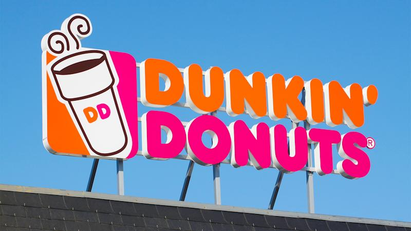 Wasserbillig, Luxembourg - April 20, 2015: Dunkin' Donuts sign.