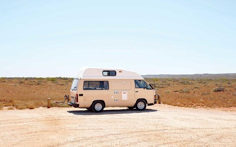 A camper parked in Cape Range National Park, on the North West Cape. | Sean Fennessy
