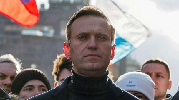 FILE PHOTO: Russian opposition politician Alexei Navalny takes part in a rally in Moscow, Feb. 29, 2020. (Shamil Zhumatov/Reuters, FILE)