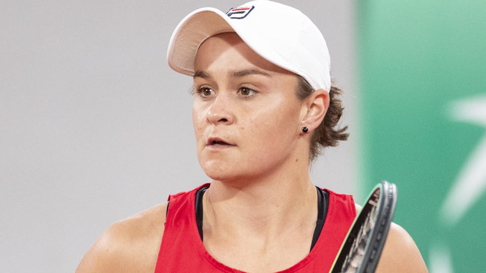 Ash Barty will face Carla Suarez Navarro in the first round at Wimbledon, following the Spaniard's inspirational recovery from cancer. (Photo by Tim Clayton/Corbis via Getty Images)