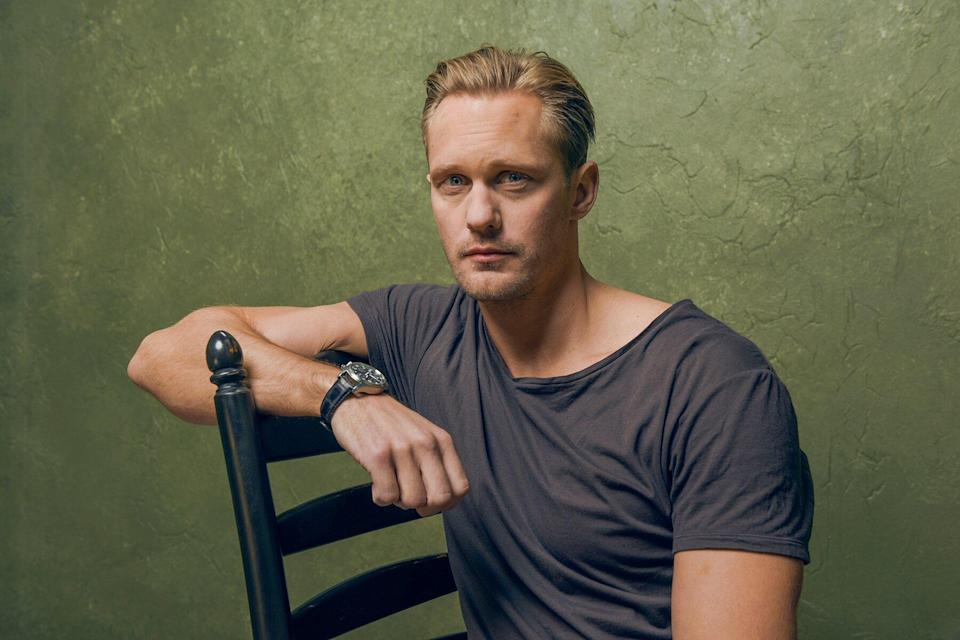 """Actor Alexander Skarsgard from """"The Diary of a Teenage Girl"""" poses for a portrait at the Village at the Lift during the 2015 Sundance Film Festival"""