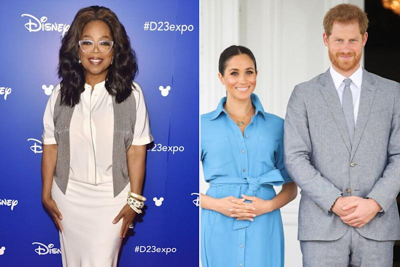 Oprah Winfrey, Meghan Markle and Prince Harry | Alberto E. Rodriguez/Getty Images; Chris Jackson/Getty Images