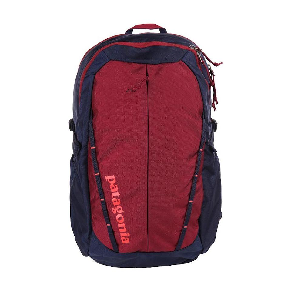 """<p><strong>Patagonia</strong></p><p>rei.com</p><p><strong>$89.00</strong></p><p><a href=""""https://go.redirectingat.com?id=74968X1596630&url=https%3A%2F%2Fwww.rei.com%2Fproduct%2F117964&sref=https%3A%2F%2Fwww.bestproducts.com%2Ffitness%2Fclothing%2Fg1214%2Fgym-backpacks-sports-bags%2F"""" rel=""""nofollow noopener"""" target=""""_blank"""" data-ylk=""""slk:Shop Now"""" class=""""link rapid-noclick-resp"""">Shop Now</a></p><p>Because Patagonia was a company essentially built for active people, you <em>know</em> any product you get will be both comfortable and durable. This gym backpack is no exception. It's a midsize bag with lots of compartments, and it comes with a sternum belt for extra support. We love that it includes a laptop sleeve, too!</p>"""