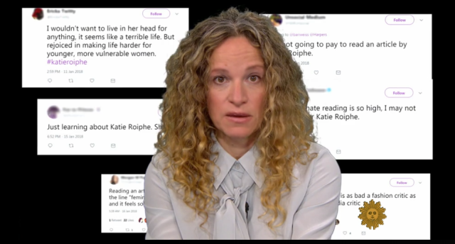 Katie Roiphe is being hated on again. (Photo: CBS News)